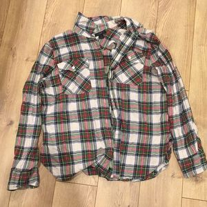 Jcrew Plaid shirt in size 14